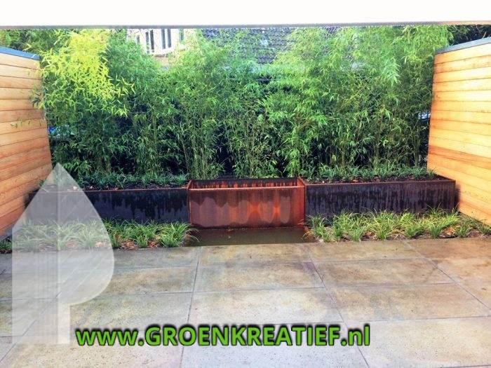 tuinaanleg-bilthoven-cortenstaal-bamboe-door-groenkreatief-nl-achterveld